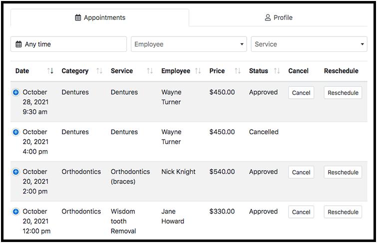 Option #3 – personal customer cabinet