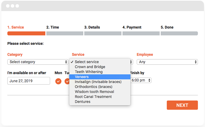 How the WordPress booking plugin works