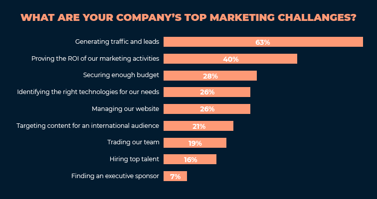 What are your company's top marketing challenges?