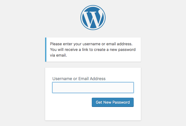 Forgot password form