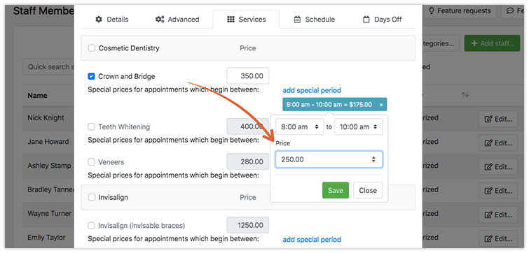 Bookly Special Hours (Add-on) backend settings