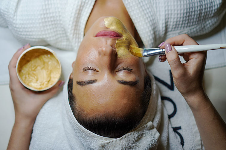 Spa treatments that include facials are great for reducing wrinkles and relieving stress.