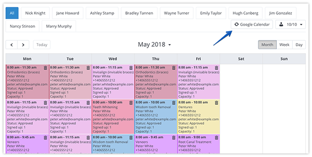 Two-way sync between Bookly and Google Calendar