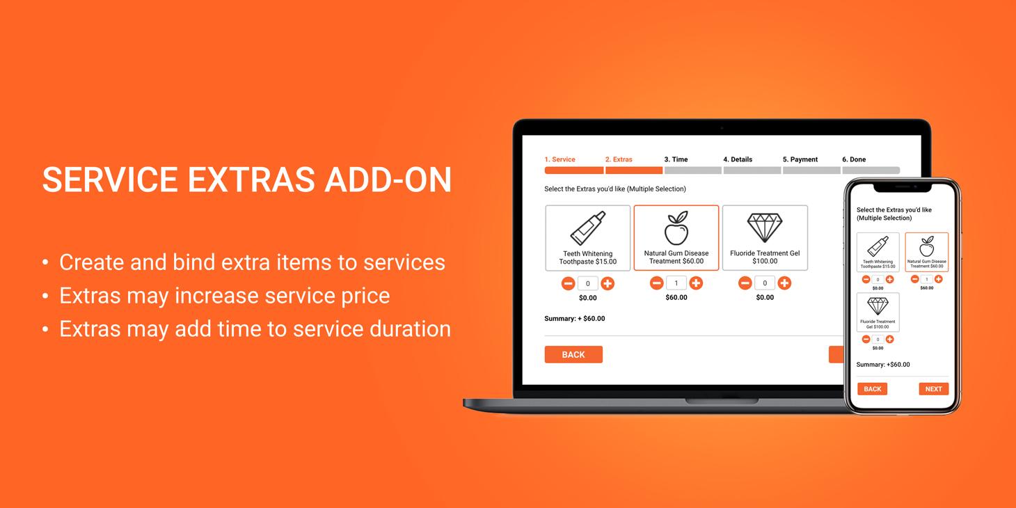 Service extras marketing tool