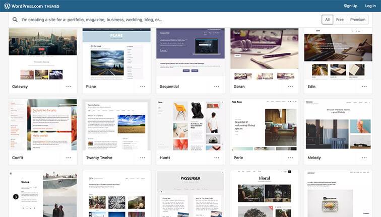 WordPress themes catalog