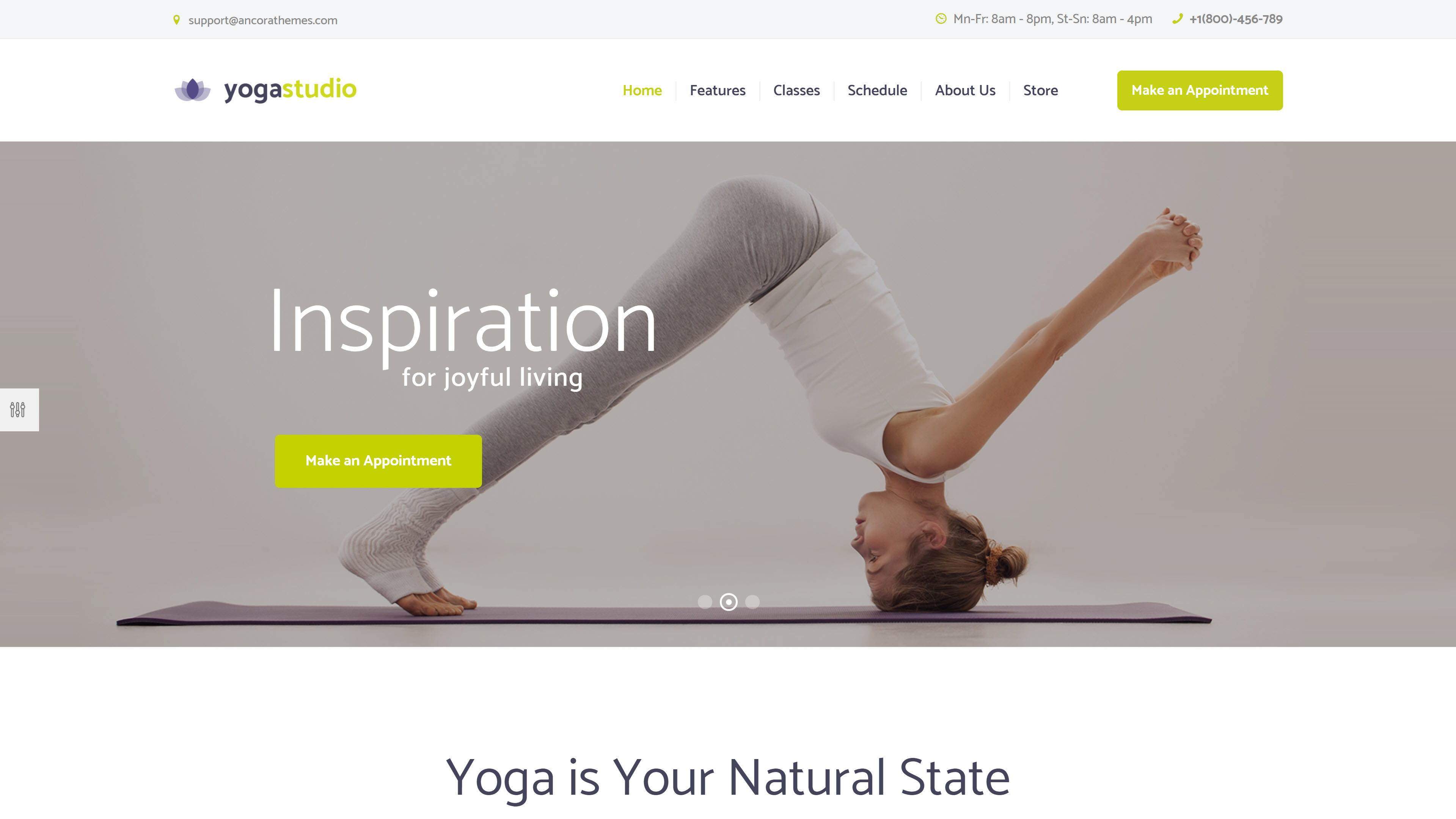 Yogastudio theme